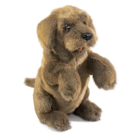 Sitting Dog Hand Puppet  |  Folkmanis