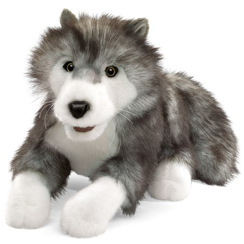 Timber Wolf Hand Puppet  |  Folkmanis