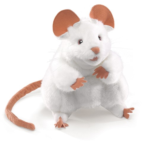 White Mouse Hand Puppet  |  Folkmanis