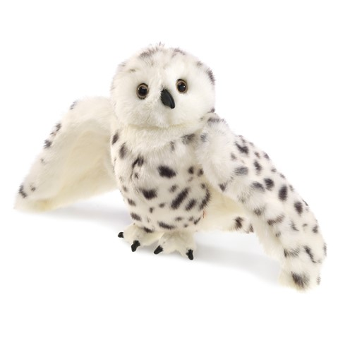 Snowy Owl Hand Puppet  |  Folkmanis
