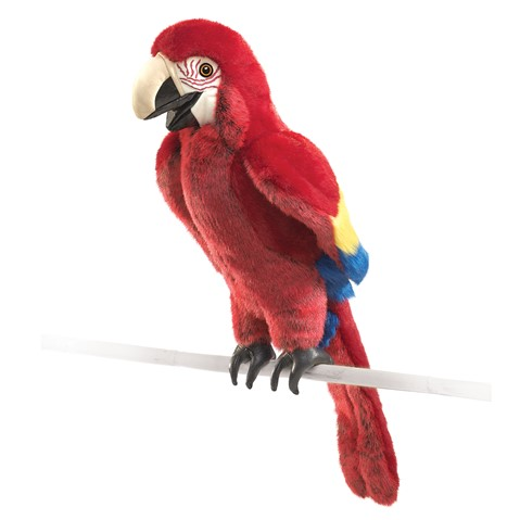 Scarlet Macaw Hand Puppet  |  Folkmanis