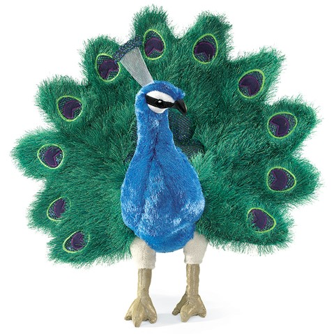 Peacock Hand Puppet  |  Folkmanis