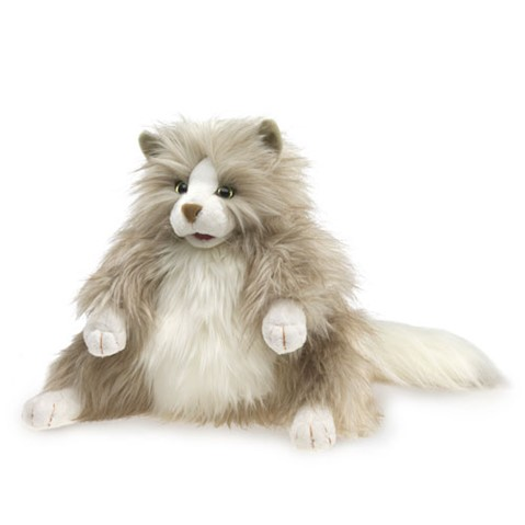 Fluffy Cat Hand Puppet  |  Folkmanis