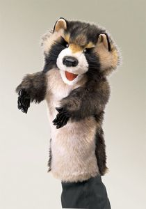 Raccoon Stage puppet  |  Folkmanis
