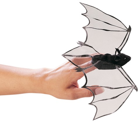 Mini Bat Finger Puppet  |  Folkmanis