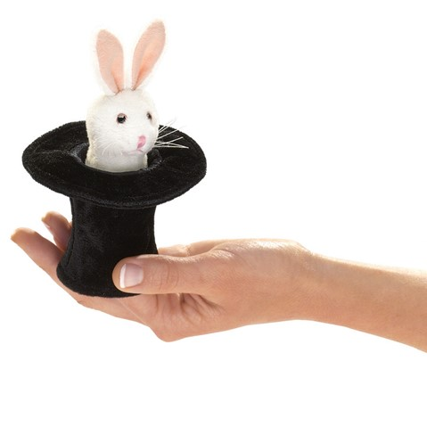 MIni Rabbit in Hat  |  Folkmanis