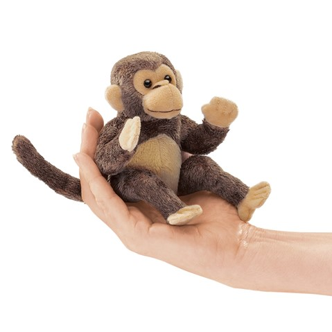 Mini Monkey Finger Puppet  |  Folkmanis