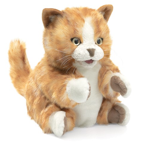 Orange Tabby Kitten Hand Puppet  |  Folkmanis