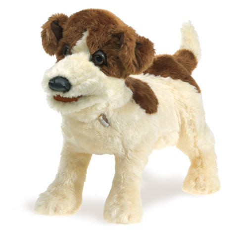 Jack Russell Terrier Hand Puppet  |  Folkmanis