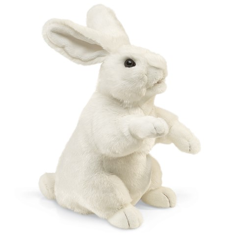 White Standing Rabbit  |  Folkmanis