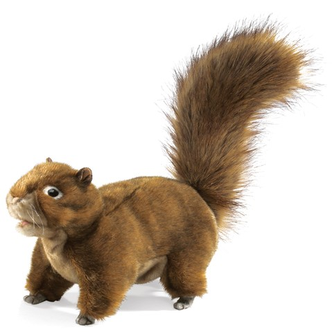 Red Squirrel Hand Puppet  |  Folkmanis