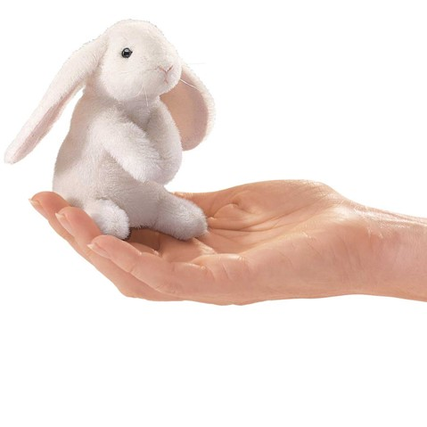 Mini Lop Eared Rabbit Finger Puppet  |  Folkmanis