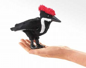 Mini Woodpecker Finger Puppet  |  Folkmanis
