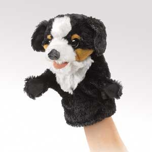 Little Bernese Dog Puppet  |  Folkmanis