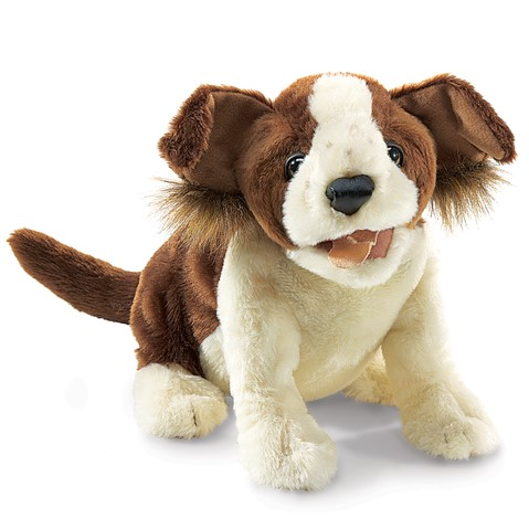 Lucky Dog Hand Puppet  |  Folkmanis
