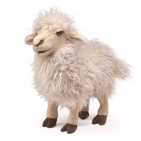 Long Wool Sheep Hand Puppet  |  Folkmanis