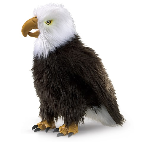 Perched Eagle Hand Puppet  |  Folkmanis