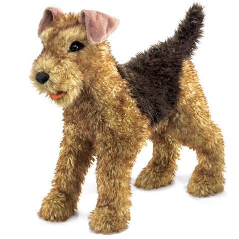 Airdale Terrier Hand Puppet  |  Folkmanis