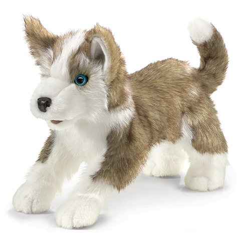 Wolf Pup Hand Puppet  |  Folkmanis