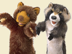 Bear & Raccoon