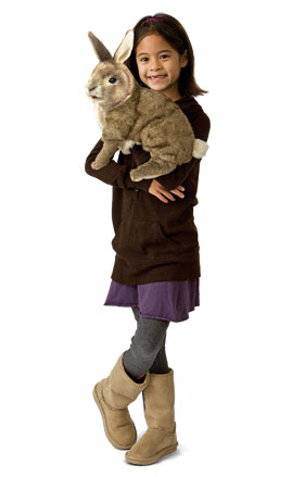 Girl with Cottontail Rabbit