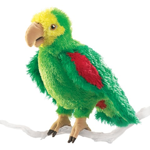 Amazon Parrot Hand Puppet  |  Folkmanis