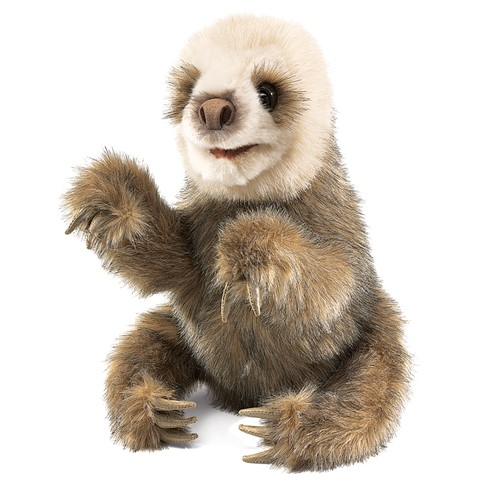 Baby Sloth Hand Puppet  |  Folkmanis