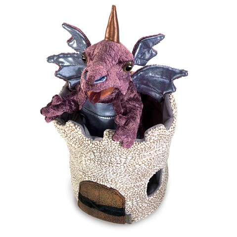 Dragon in Turret Hand Puppet  |  Folkmanis