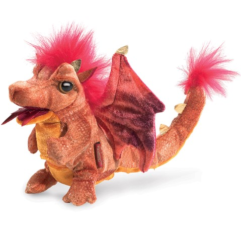 Fire Dragon Hand Puppet  |  Folkmanis