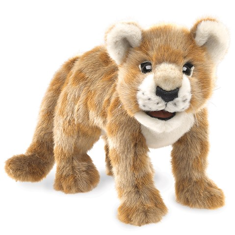 African Lion Cub Hand Puppet Folkmanis