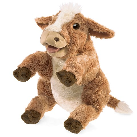Brown Cow Hand Puppet  |  Folkmanis