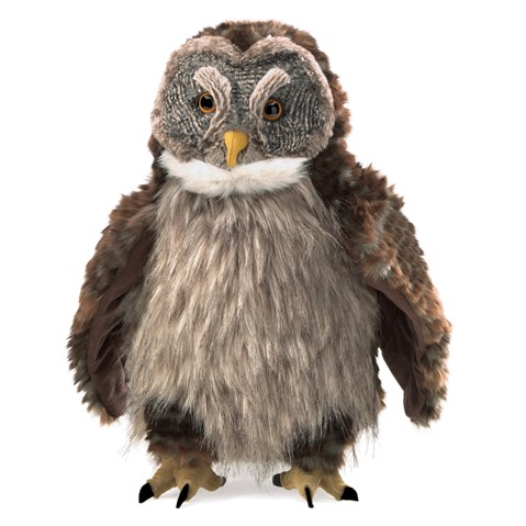 Hooting Owl Hand Puppet  |  Folkmanis