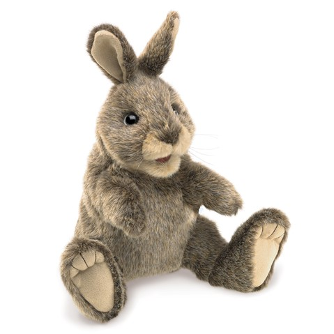 Small Cottontail Rabbit Hand Puppet  |  Folkmanis