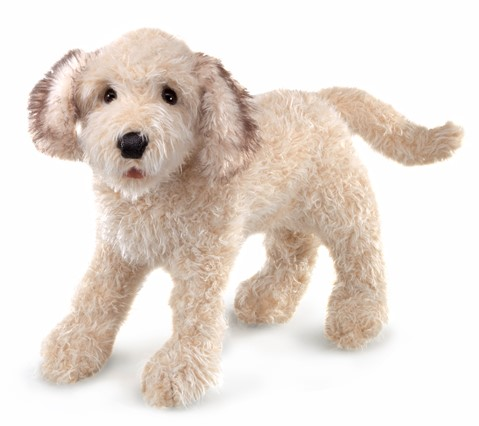 Labradoodle Hand Puppet  |  Folkmanis