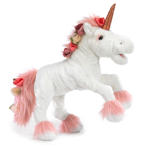 Music Box Unicorn Hand Puppet  |  Folkmanis