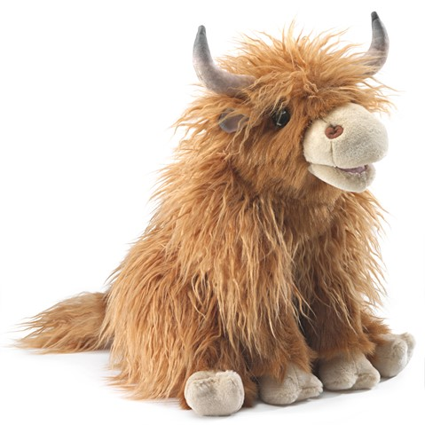 Highland Cow Hand Puppet  |  Folkmanis