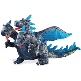 Dragon, Three-Headed - Blue