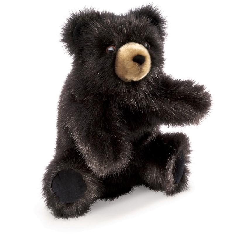 Baby Black Bear Hand Puppet Folkmanis